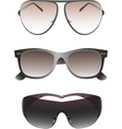 Sunglasses set for men vector image