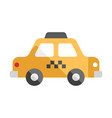 taxi flat vector image vector image