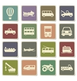 Transportation simply icons vector image