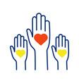 volunteering experience color icon vector image