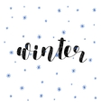 Winter Brush lettering vector image vector image