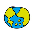 world planet earth drawing icon vector image