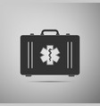 first aid box and medical symbol star of life icon vector image