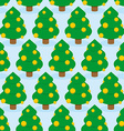 Christmas Tree seamless pattern Holiday wood vector image
