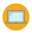 laptop flat line icon vector image