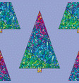 christmas trees pattern happy new year seamless vector image