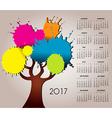 2017 splat tree calendar vector image