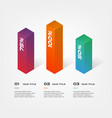 3d blocks infographics step by step element vector image
