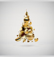abstract golden christmas tree liquid fluid banner vector image vector image