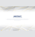 abstract polygonal pattern luxury on white and vector image vector image