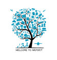 airport tree concept background for your design vector image vector image