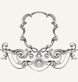 Antique Luxury High Ornate Frame And Banner vector image vector image