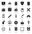 art and design glyph pack vector image vector image