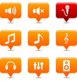 Audio buttons vector image vector image