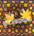 back to school concept composition with autumn vector image