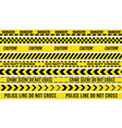 black and yellow stripes police tape vector image