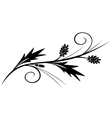 black branch for design vector image vector image