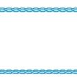 Blue border frame on white background vector image