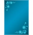 blue card with gradient in blue flowers vector image vector image
