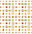 breakfast toast seamless pattern backgroun slices vector image vector image