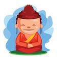 buddha wishes you happy chinese new year vector image