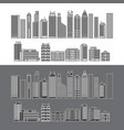 buildings and skyscrapers object line set vector image vector image