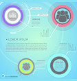 business infographics with futuristic user vector image vector image