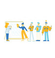 business people communicate at board meeting vector image vector image
