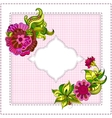 Card with hand-drawing ornaments and frame vector image vector image