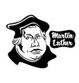 cartoon on martin luther vector image vector image