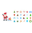 christmas icon set flat style vector image