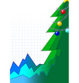 christmas infographic tree vector image vector image