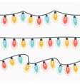 christmas lights garland vector image vector image