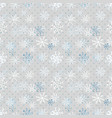 christmas snowflakes pattern winter seamless vector image