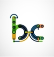 Colorful funny cartoon letter icon vector image vector image