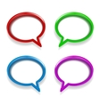 colorful glossy speech bubbles vector image vector image