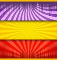 comic light horizontal banners vector image