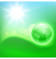 Concept ecological background with the globe vector image vector image