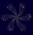 confetti stars cyclonic fireworks vector image vector image