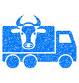cow transportation icon grunge watermark vector image vector image
