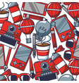 creativity bulb pencil cellphone video game vector image