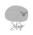cute print with sheep vector image vector image