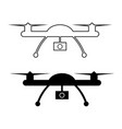 drone with action camera vector image vector image
