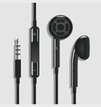 earphone black vector image vector image