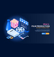film production isometric banner vector image