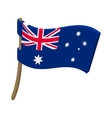 Flag of Australia icon cartoon style vector image vector image