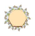 floral frame label flowers decoration vector image