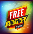 free shipping promotional concept template vector image