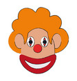 funny clown mask vector image