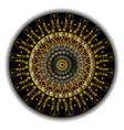 gold baroque 3d mandala pattern vintage vector image vector image